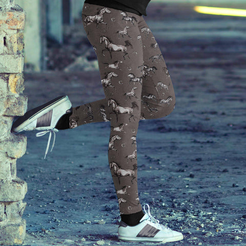 Image of Watercolor Horse Leggings Leggings