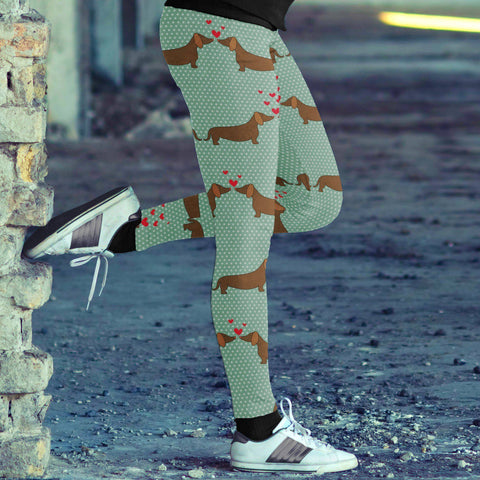 Image of Dachshund Love Leggings Leggings