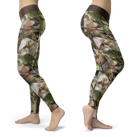 Realistic Camo Leggings Leggings Realistic Camo Leggings S