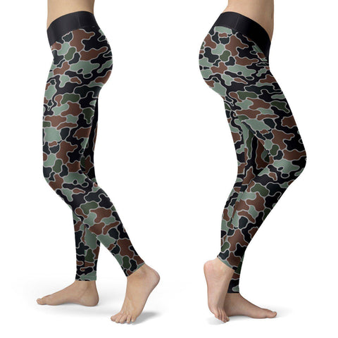 Abstract Camo Leggings Leggings Abstract Camo Leggings S
