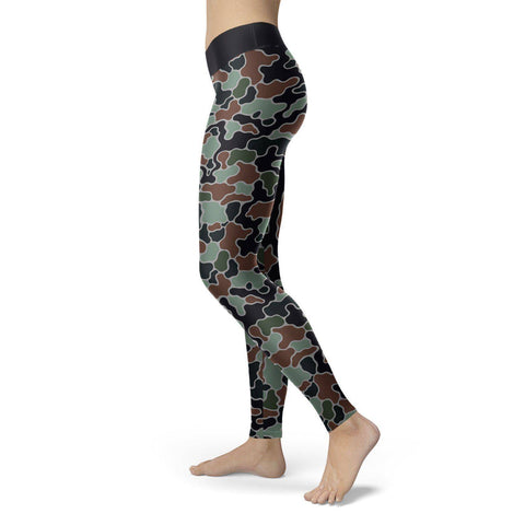 Abstract Camo Leggings Leggings