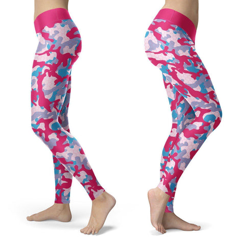 Colorful Camo Leggings Leggings Colorful Camo Leggings S