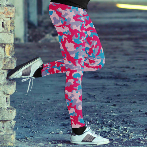 Colorful Camo Leggings Leggings