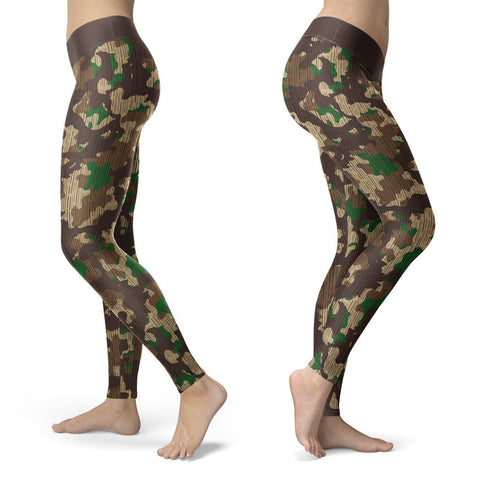 Rustic Military Camo Leggings Leggings Rustic Military Camo Leggings S