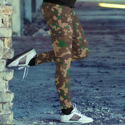 Rustic Military Camo Leggings Leggings