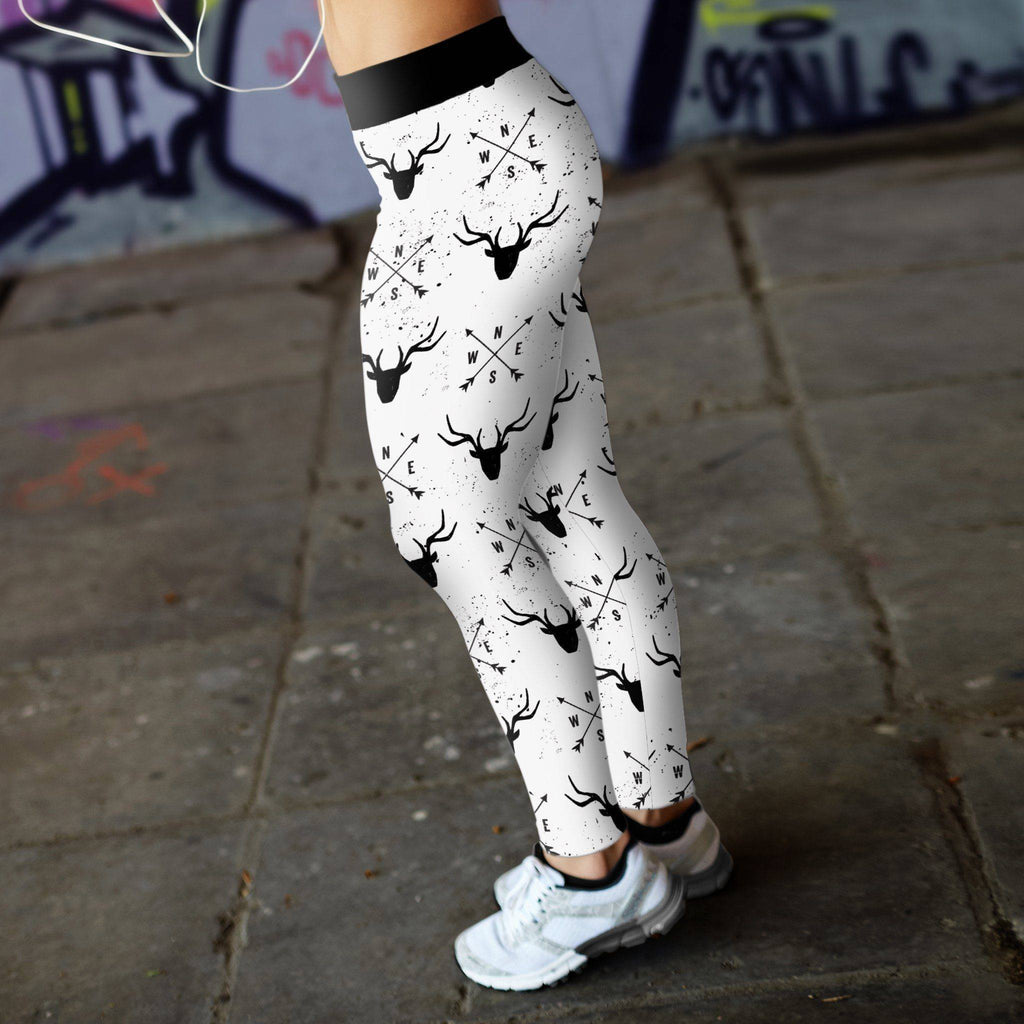Arrows and Deer Leggings Leggings
