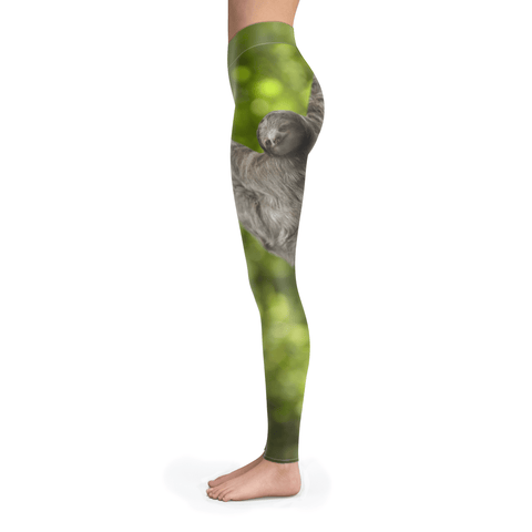 Image of Sloth, just hangin' Leggings