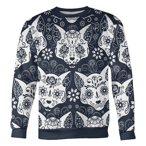 Image of Sugar Skull Cats Sweatshirt Sweatshirt Sugar Skull Cats Sweatshirt S