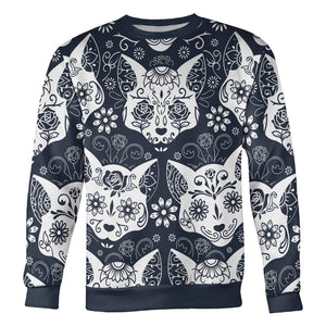 Sugar Skull Cats Sweatshirt Sweatshirt Sugar Skull Cats Sweatshirt S