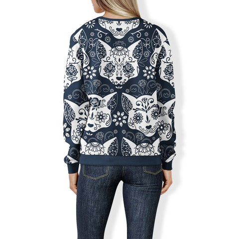 Image of Sugar Skull Cats Sweatshirt Sweatshirt