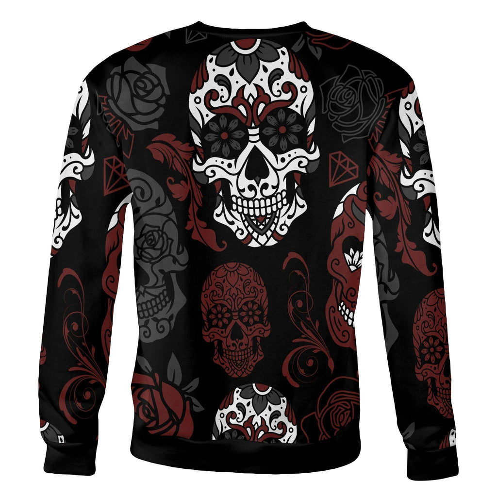Black and Red Sugar Skull Sweatshirt