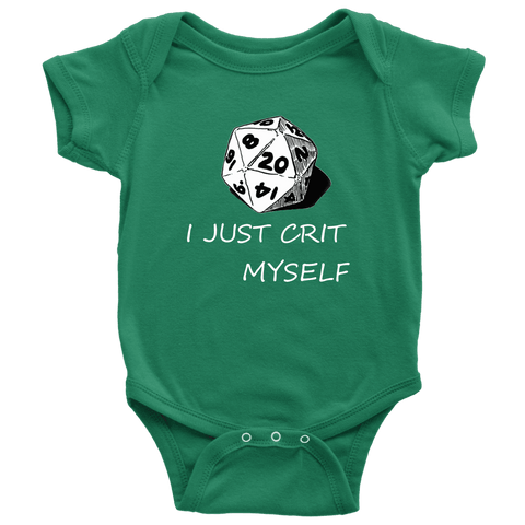 Image of I Just Crit Myself Onsies T-shirt Baby Bodysuit Kelly NB