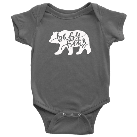 Baby Bear Shirts and Onesies T-shirt Baby Bodysuit Asphalt NB