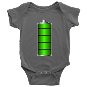 Fully Charged Onsies T-shirt Baby Bodysuit Asphalt NB