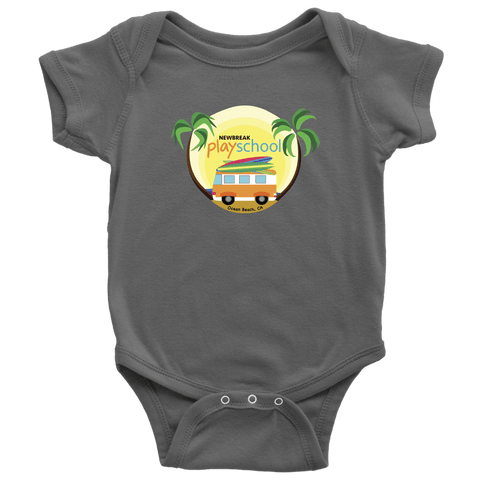 Image of Newbreak Playschool Onesie T-shirt Baby Bodysuit Asphalt NB