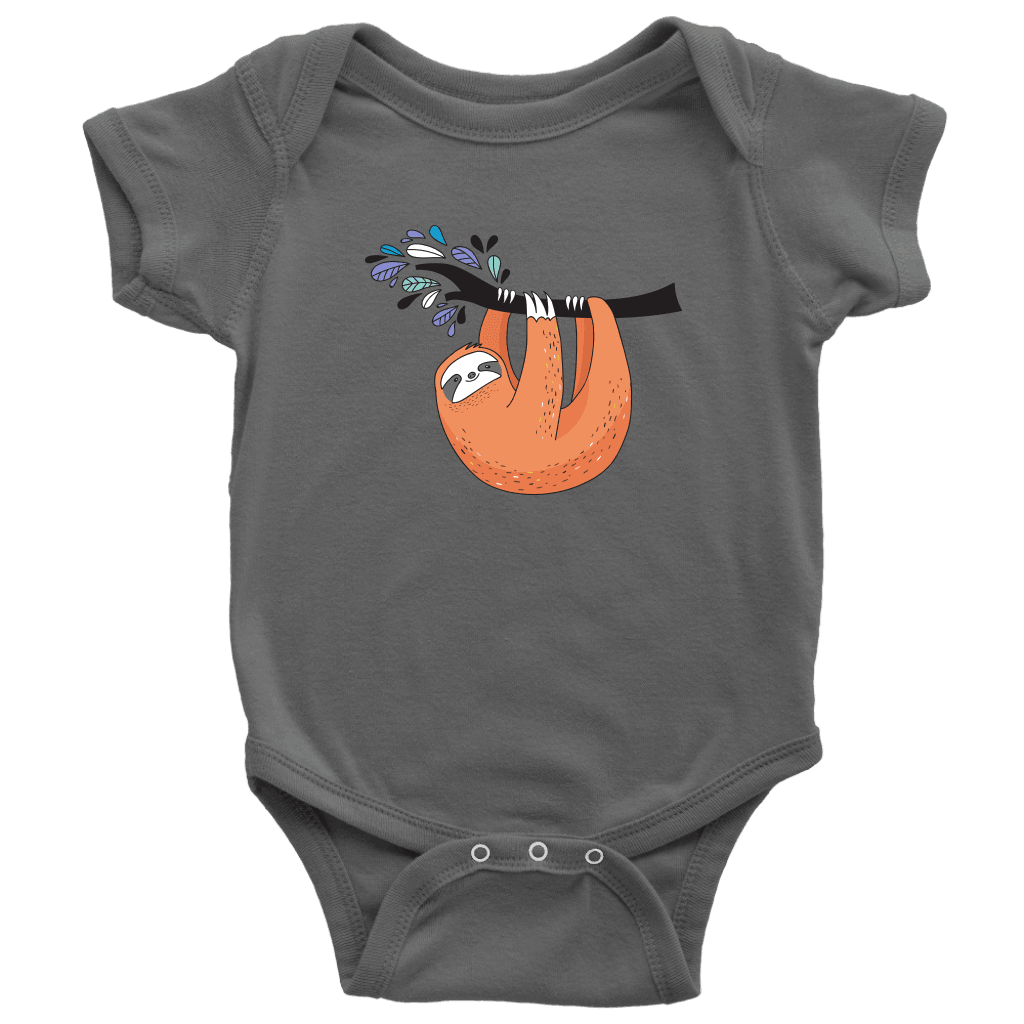 Just Hanging Onsies T-shirt Baby Bodysuit Asphalt NB