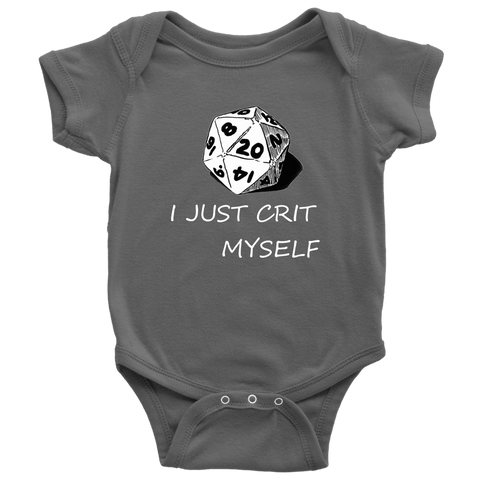 Image of I Just Crit Myself Onsies T-shirt Baby Bodysuit Asphalt NB