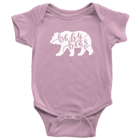 Baby Bear Shirts and Onesies T-shirt Baby Bodysuit Pink NB
