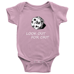 Look Out For Crit Onesies T-shirt Baby Bodysuit Pink NB