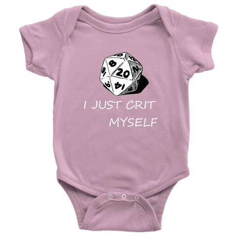 Image of I Just Crit Myself Onsies T-shirt Baby Bodysuit Pink NB