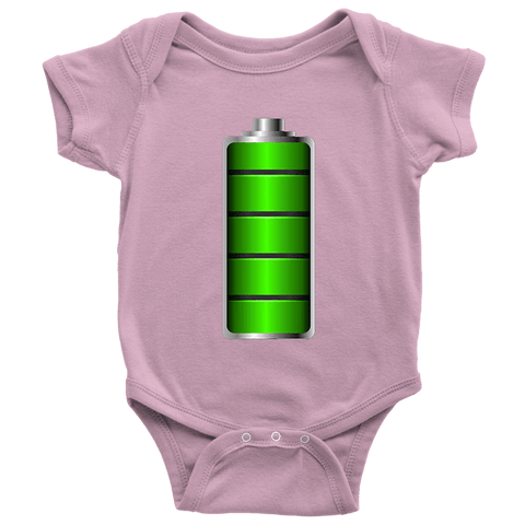Image of Fully Charged Onsies T-shirt Baby Bodysuit Pink NB