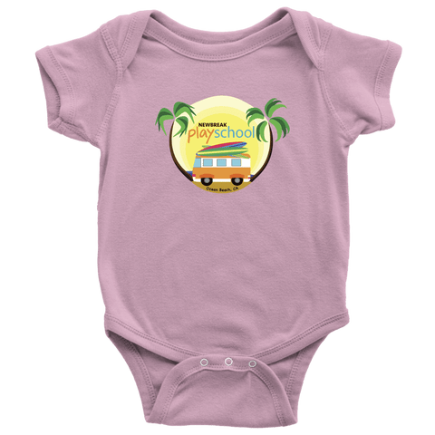 Image of Newbreak Playschool Onesie T-shirt Baby Bodysuit Pink NB