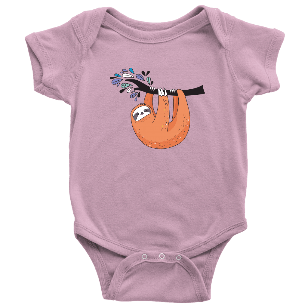 Just Hanging Onsies T-shirt Baby Bodysuit Pink NB