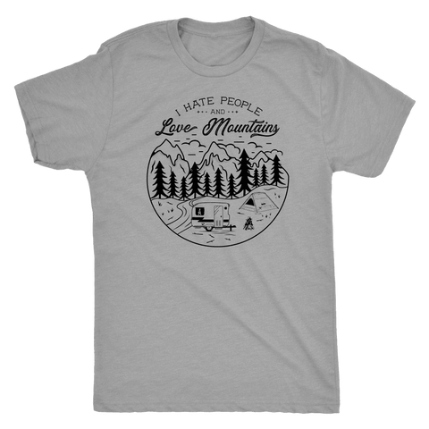 Image of Love The Mountains Mens T-shirt Next Level Mens Triblend Premium Heather S