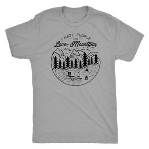 Love The Mountains Mens T-shirt Next Level Mens Triblend Premium Heather S