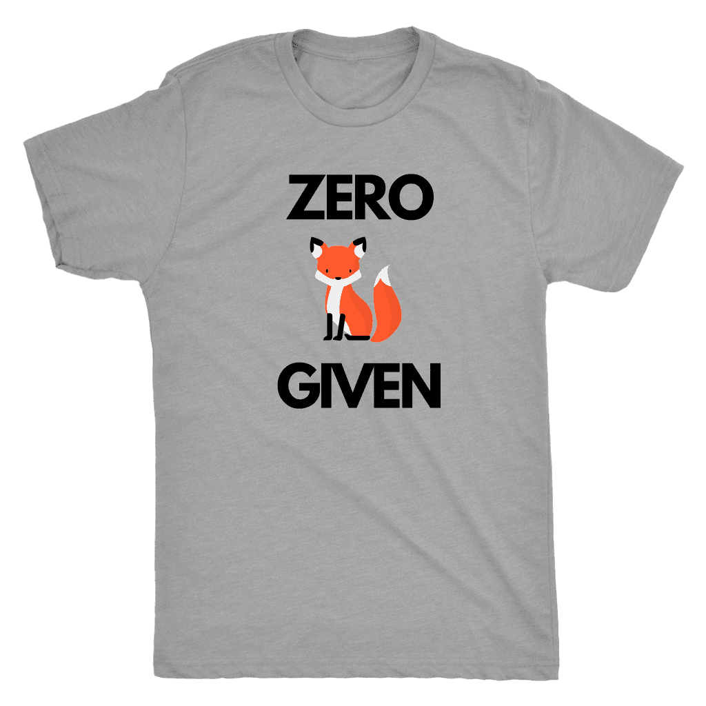 Zero Fox Given T-shirt Next Level Mens Triblend Premium Heather S