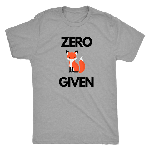 Image of Zero Fox Given T-shirt Next Level Mens Triblend Premium Heather S