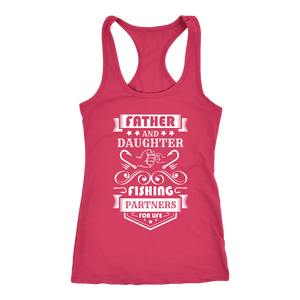 Father and Daughter Fishing Partners T-shirt Next Level Racerback Tank Raspberry XS