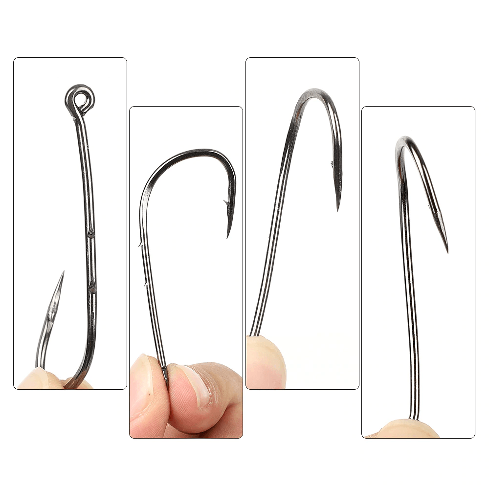 200 - 600pcs Bait Hooks | 1/2 inch Size 8 to 1.2 inch 1/0