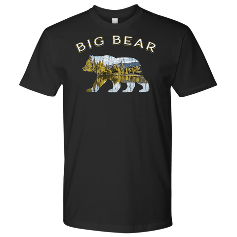 Image of Big Bear V.1 Men's Shirts T-shirt Next Level Mens Shirt Black S