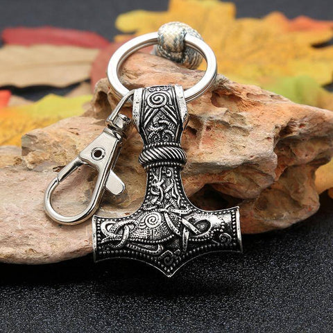 Image of Mjolnir Paracord Keychain Key Chains