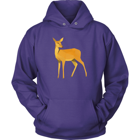 Polygonal Doe T-shirt Unisex Hoodie Purple S