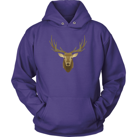 Image of Deer Portrait, Real T-shirt Unisex Hoodie Purple S