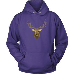 Deer Portrait, Real T-shirt Unisex Hoodie Purple S