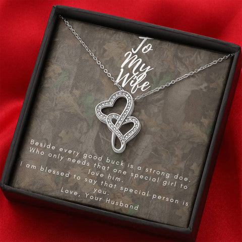 Hunting Wife, Dual Heart Necklace