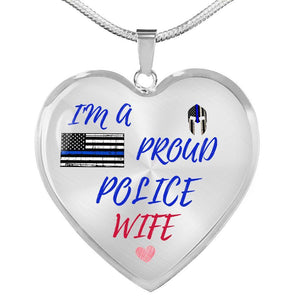 Proud Police Wife Jewelry Luxury Necklace (Silver) No