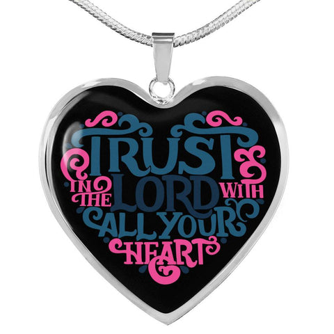 Image of Trust in the Lord Black Jewelry Luxury Necklace (Silver) No