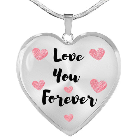 Love You Forever Jewelry Luxury Necklace (Silver) No