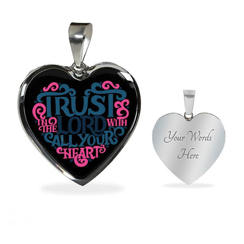 Image of Trust in the Lord Black Jewelry Luxury Necklace (Silver) Yes