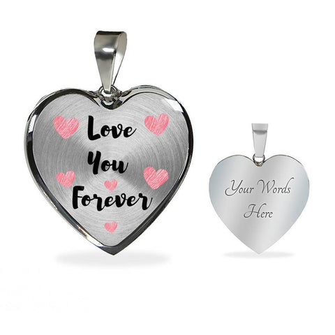 Love You Forever Jewelry Luxury Necklace (Silver) Yes