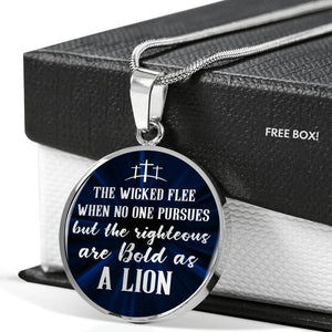 Be Bold As A Lion | Circle Necklace Jewelry
