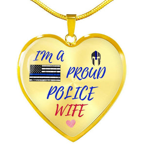Proud Police Wife Jewelry Luxury Necklace (Gold) No