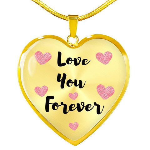 Love You Forever Jewelry Luxury Necklace (Gold) No