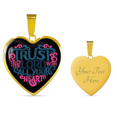Image of Trust in the Lord Black Jewelry Luxury Necklace (Gold) Yes