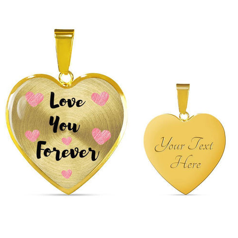 Love You Forever Jewelry Luxury Necklace (Gold) Yes