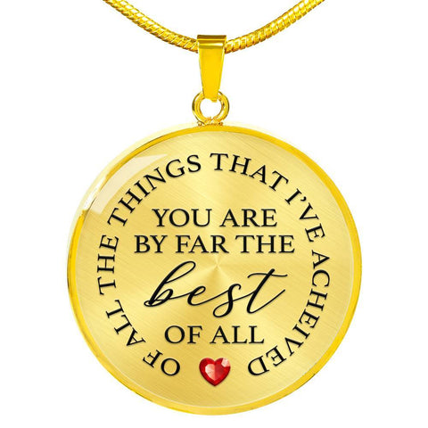 You Are Best Of All | Circle Necklace Jewelry Luxury Necklace (Gold) No